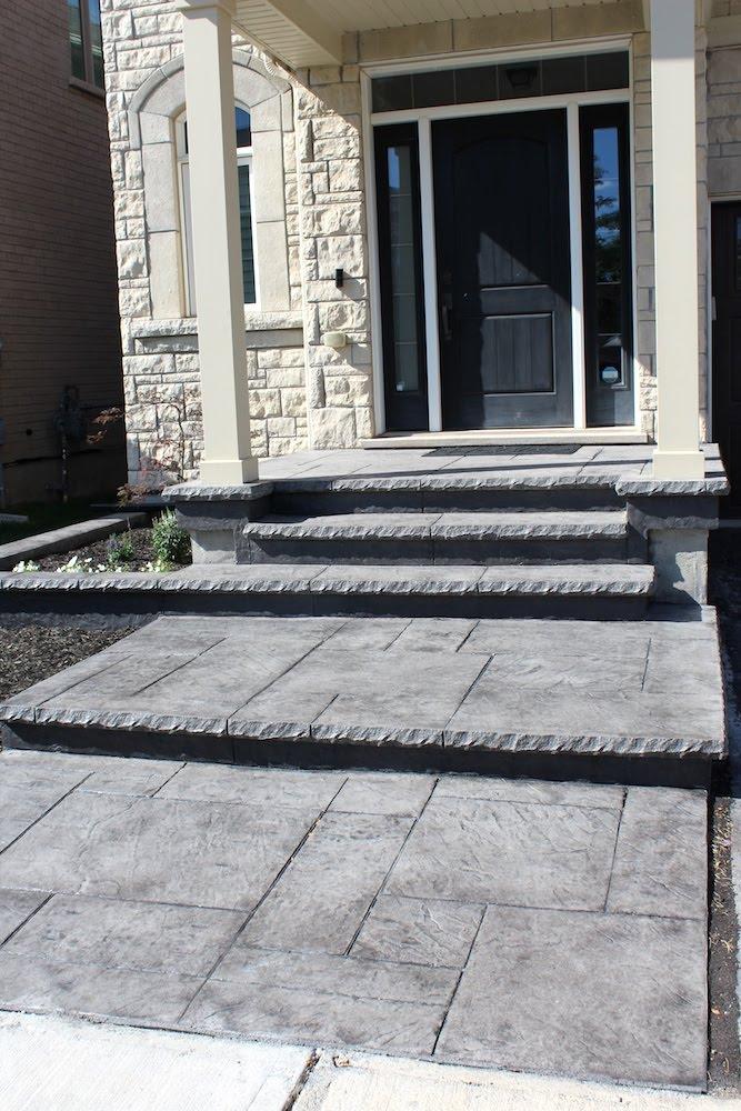 Yorkstone gray walkway